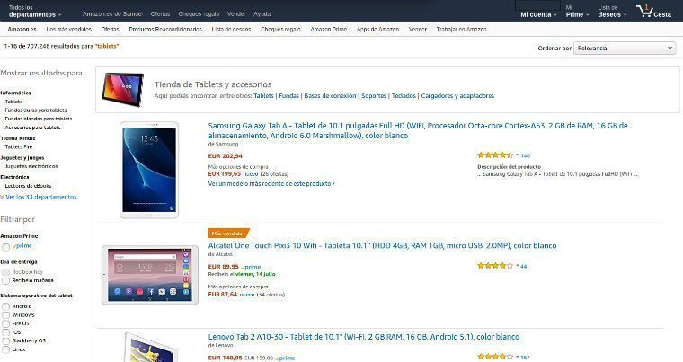 Comparativa tablets 10''